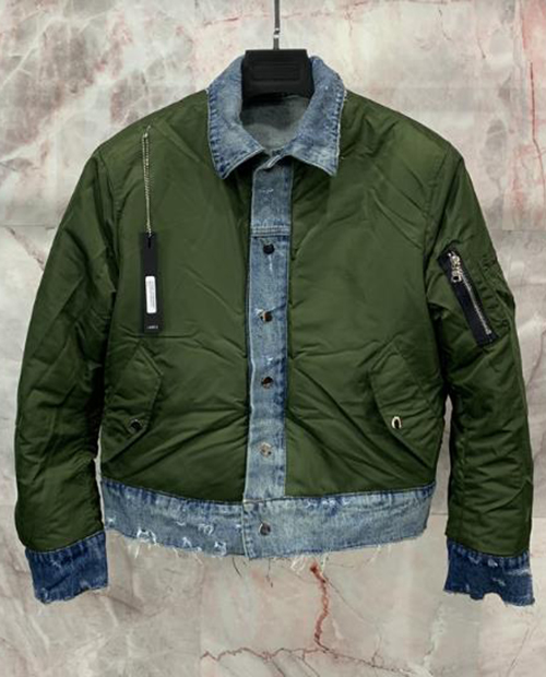 FOG DENIM DOUBLE SIDED  BOMBER JACKET