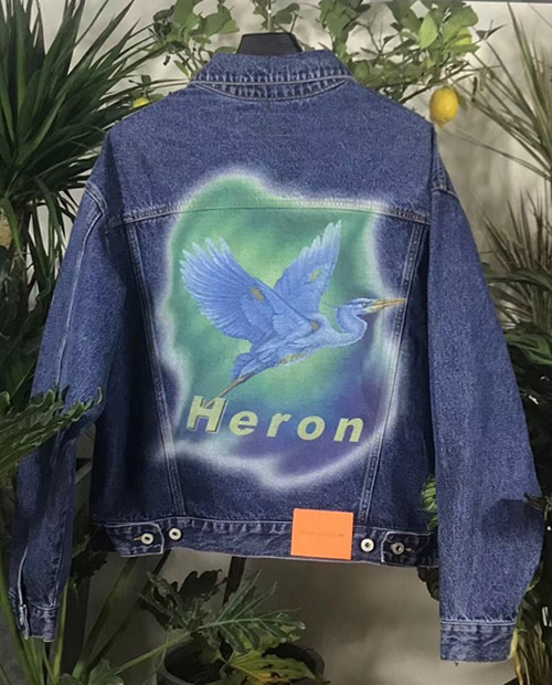 HERON DUCK PRINT DENIM JACKET