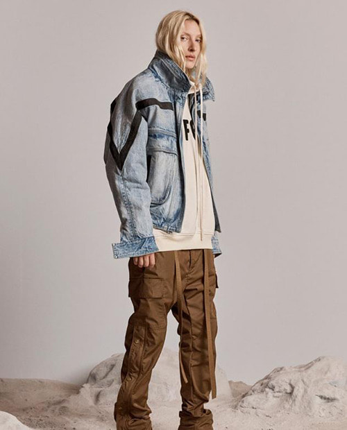 FOG WASHING DENIM OVERFIT JACKET