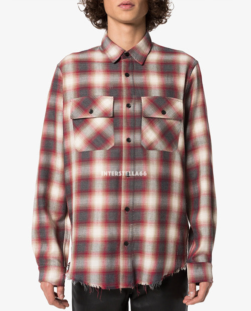 AMR COTTON LOGO FLANNEL SHIRTS