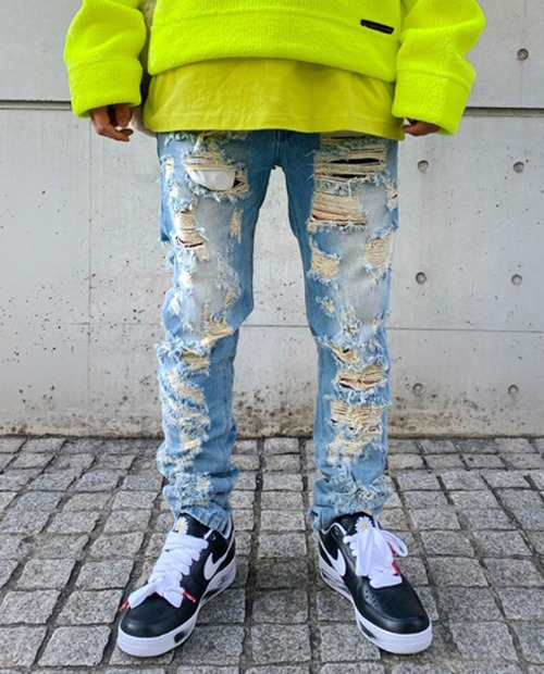 REPRESENT HARD DISS JEANS