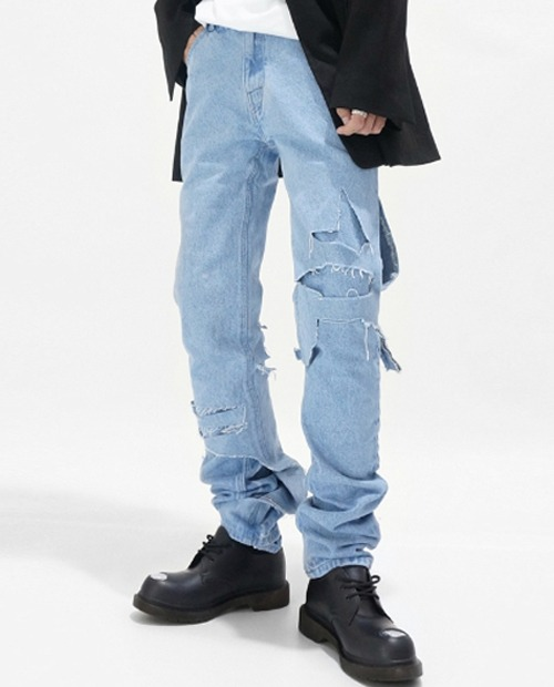 RAF BREAKING DISS JEANS