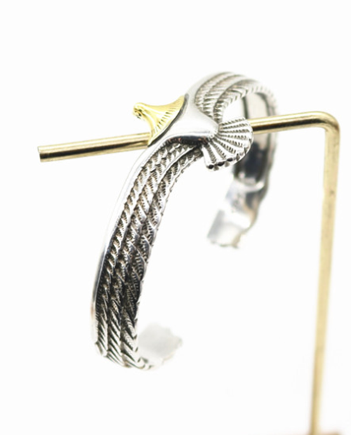 GOROS EAGLE FREE SIZE BANGLE