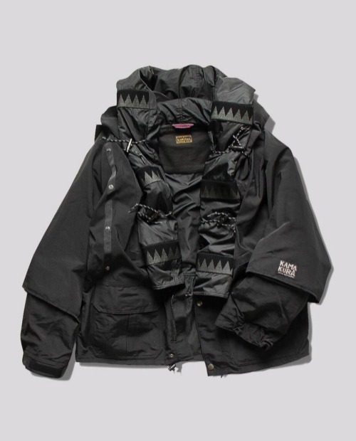 KAP TAN BLACK MULTI MOUNTAIN JACKET