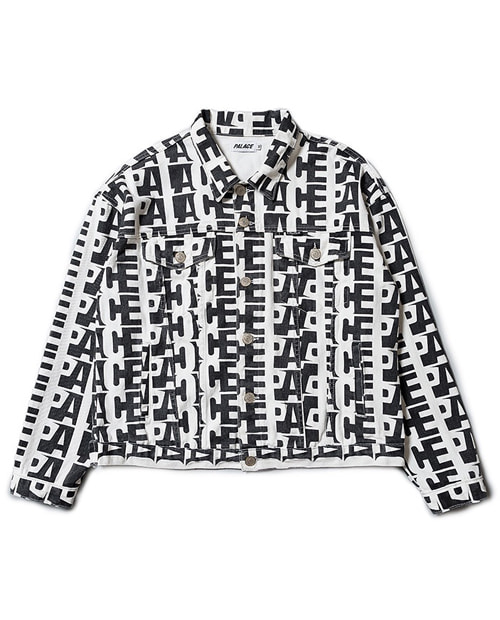 PL LOGO PATTERN DENIM JACKET