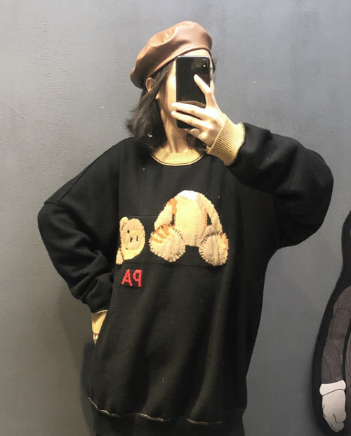 PALM HANG TEDDY KNIT TURTLE NECK