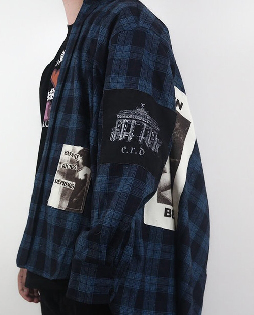 ERD BACK PRINTING BLUE FLANNEL